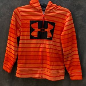 Under Armour Zip Hoodie Orange Kids